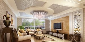 Classic-ceiling-decor-for-living-room-interior-ideas