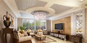 Classic-ceiling-decor-for-living-room-interior-ideas